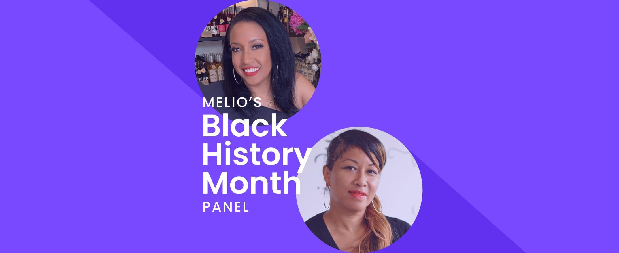 Speakers on Melio's Black History Month panel