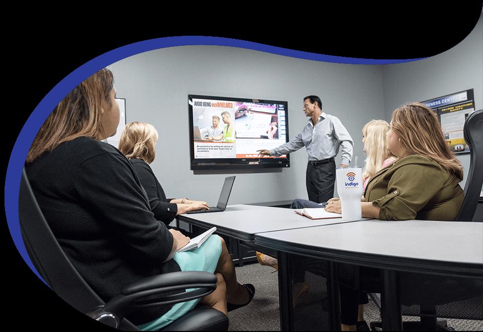 Indigo Workplace Communication team work