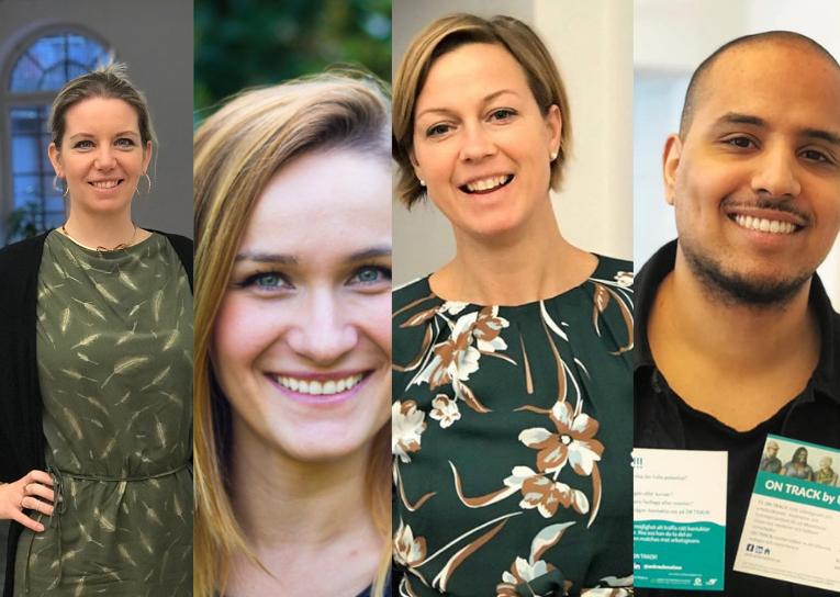 Sarah, Katarina, Åsa och Hussni