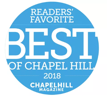 Voted Readers' Favorite Best of Chapel Hill 2018 by Chapel Hill Magazine