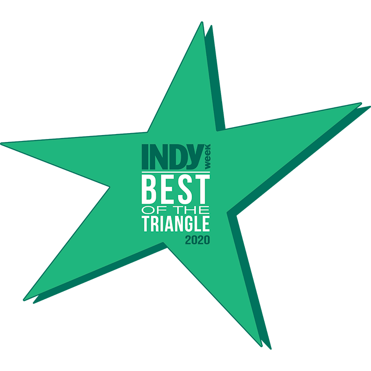 Voted Indy Week Best of The Triangle 2019