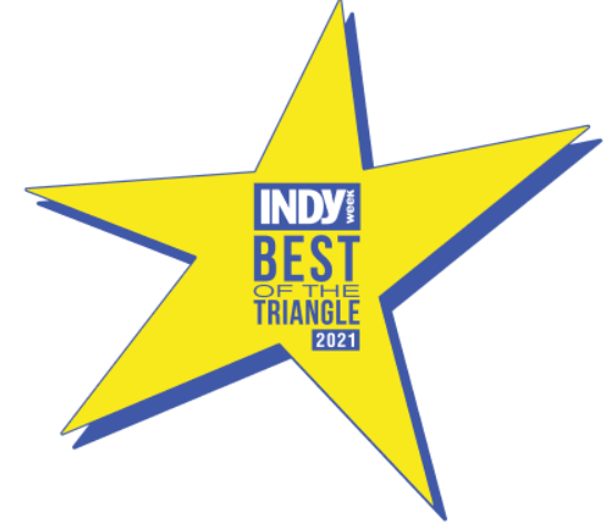 Voted Indy Week Best of The Triangle 2018