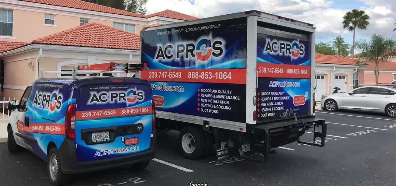ac pros service vans