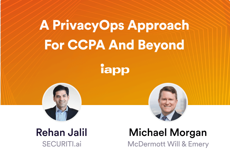 A PrivacyOps approach for CCPA and Beyond