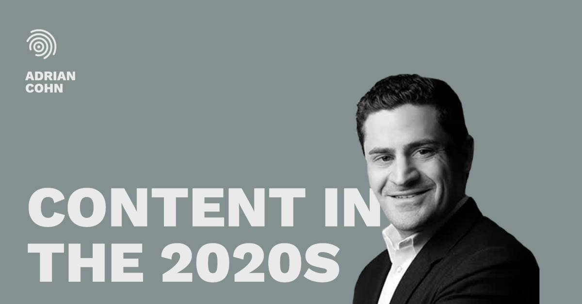 Content in the 2020s - Pros and Content Connect 2020