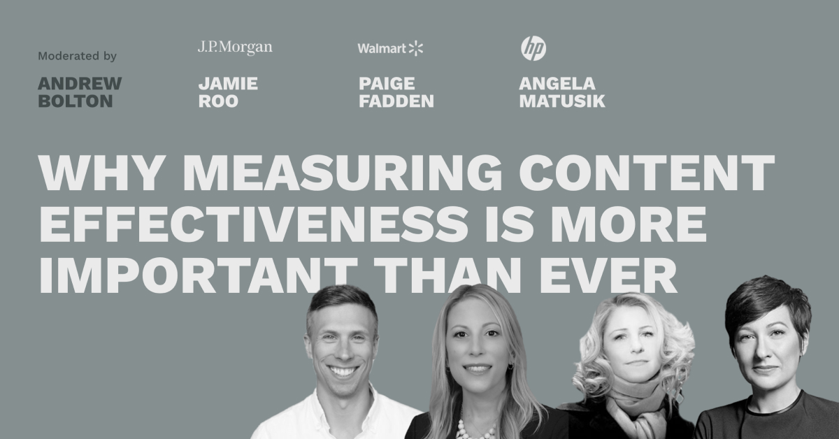 Why Measuring Content Effectiveness is More Important Than Ever - Pros and Content Connect 2020