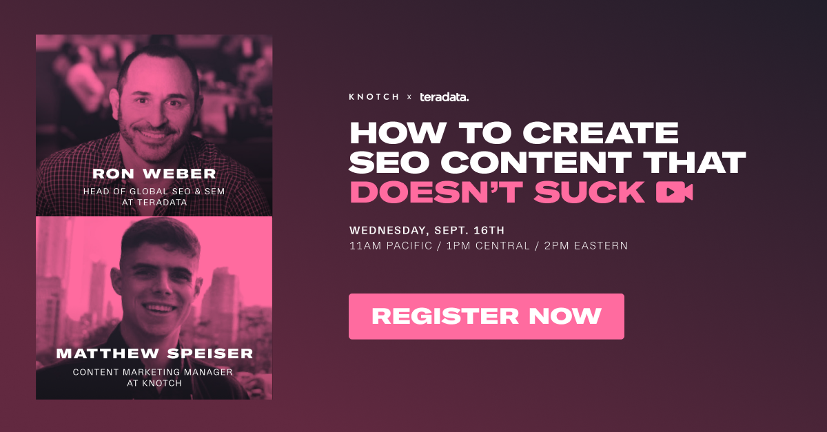 Webinar Recap: How to Create SEO Content That Doesn't Suck