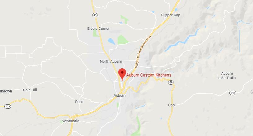 Map of Auburn Custom Kitchens