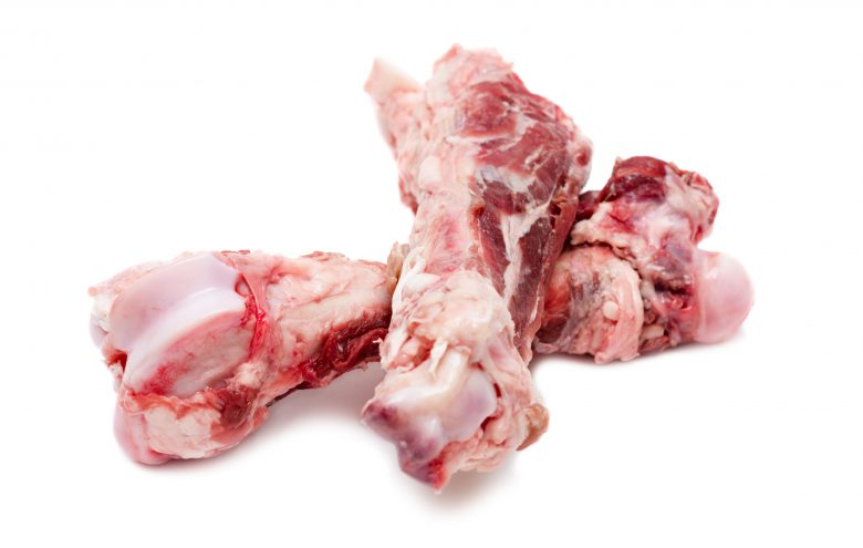 Bones with some meat and cartilage.