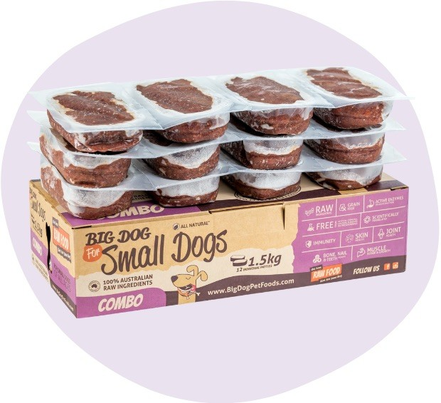 Combo Raw Dog Food for Small Dogs
