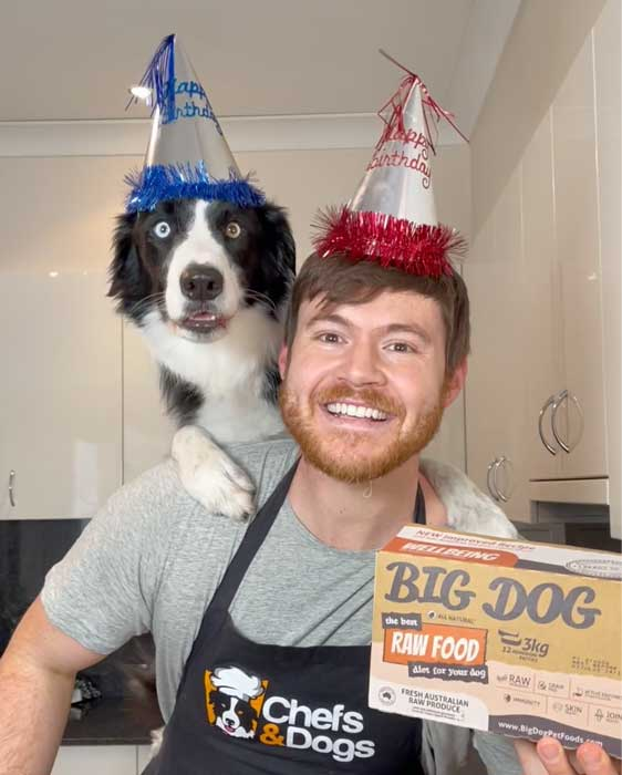A chef and his dog