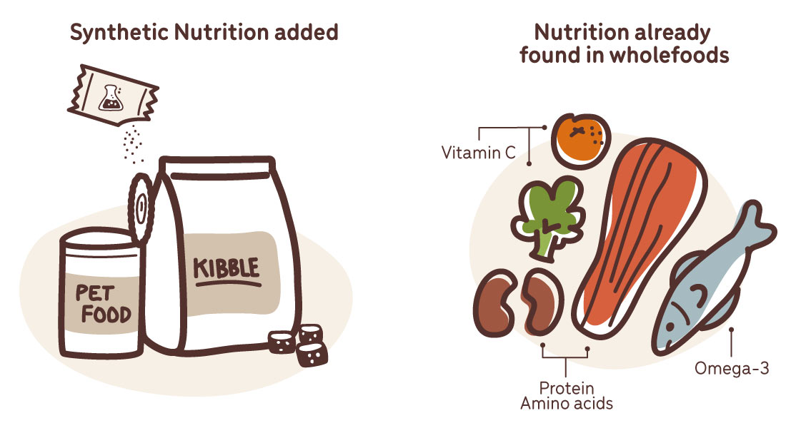 comic synthetic nutrition versus natural nutrition in pet foods