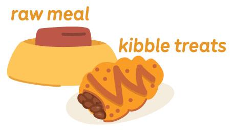 raw meal kibble treats