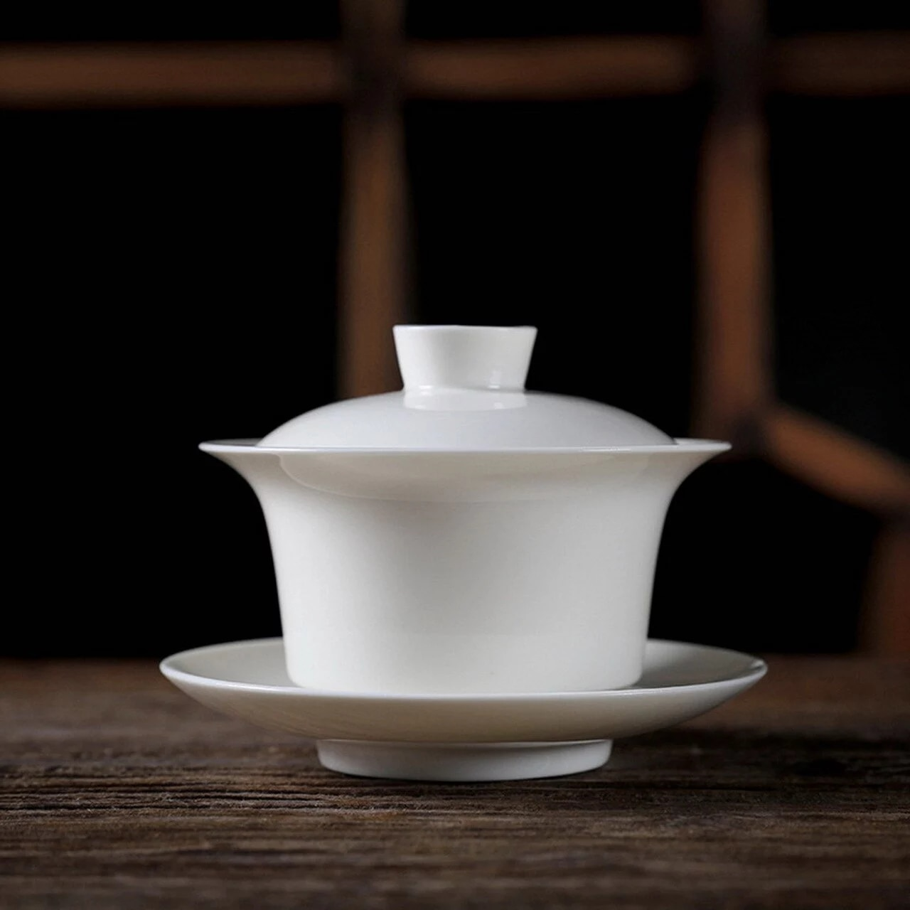 Large White Gongfu Tea Porcelain Gaiwan 200ml 6.76 fl oz|gaiwan  porcelain|porcelain teawhite gaiwan - AliExpress