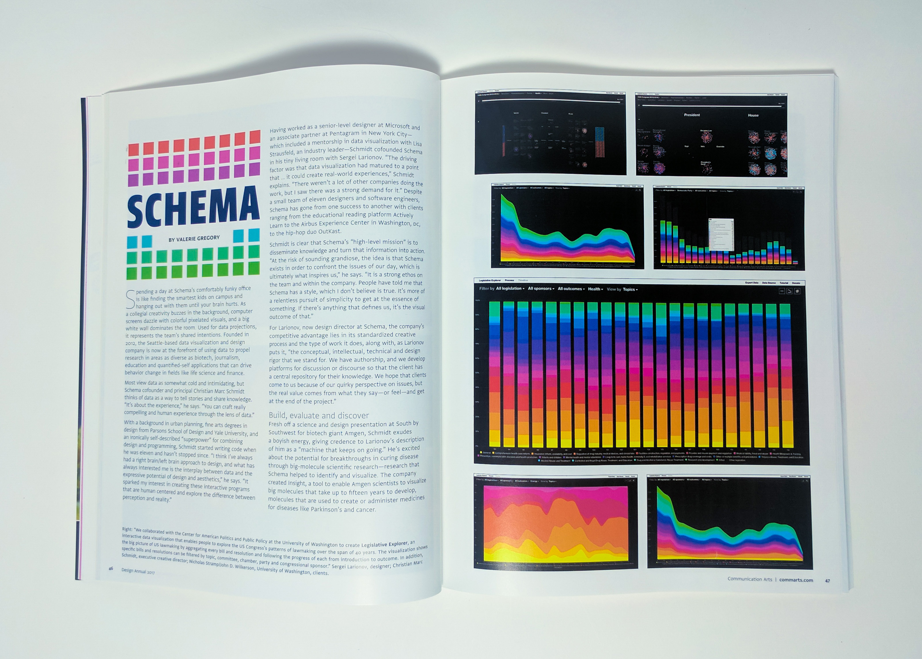 Schema Featured in Communication Arts Design Annual 58