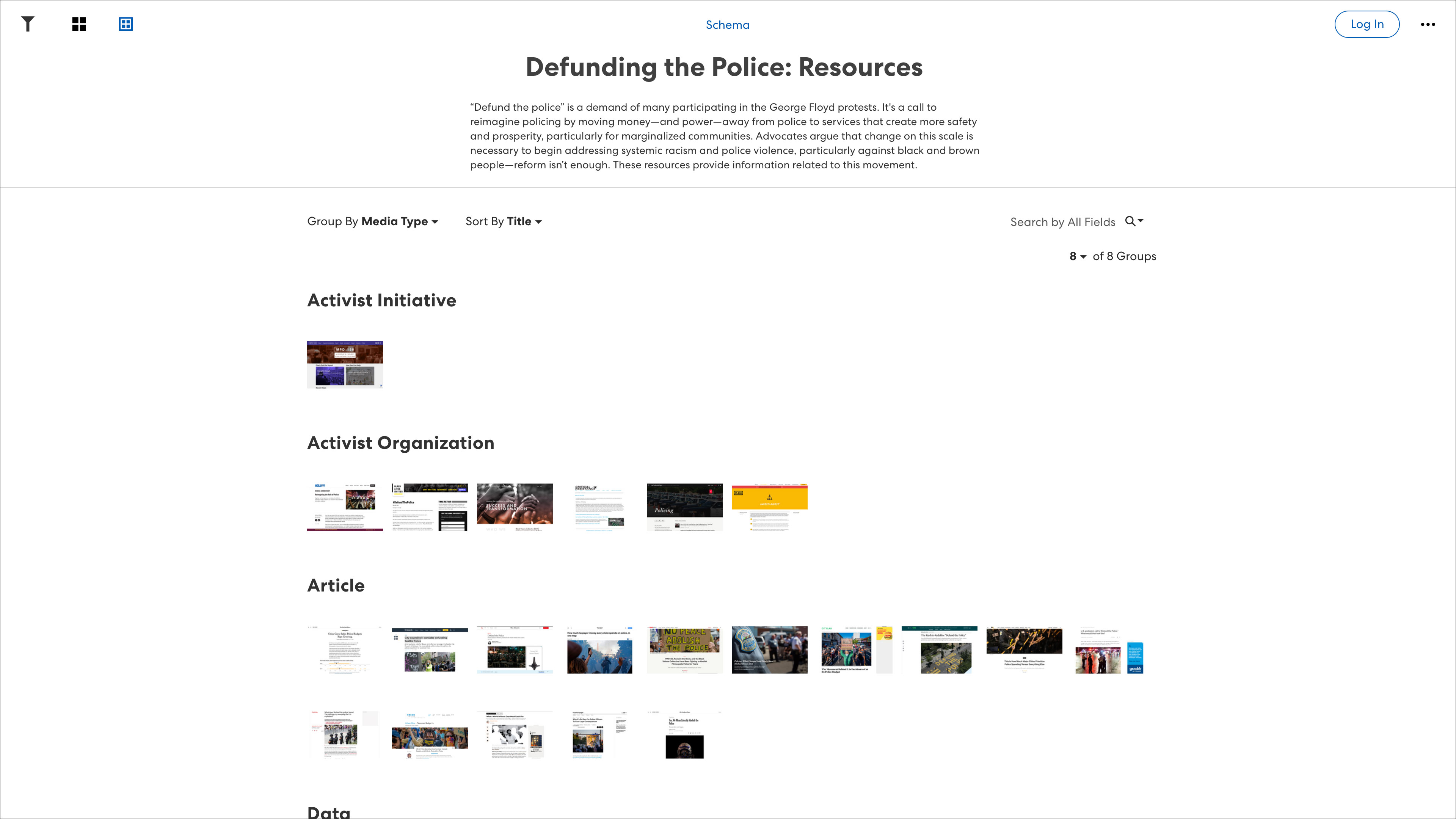 Defunding the Police: Resources