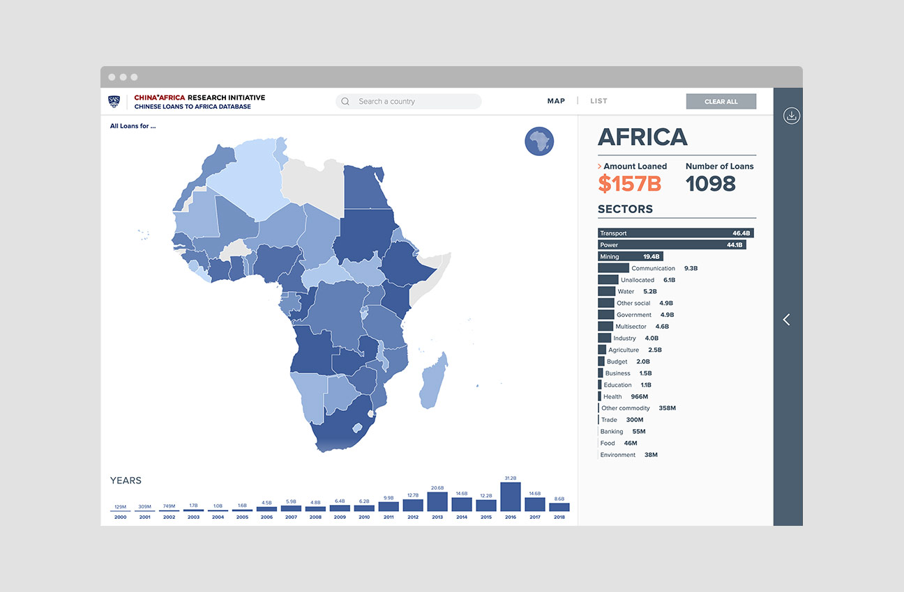 Mapping Chinese Loans to Africa