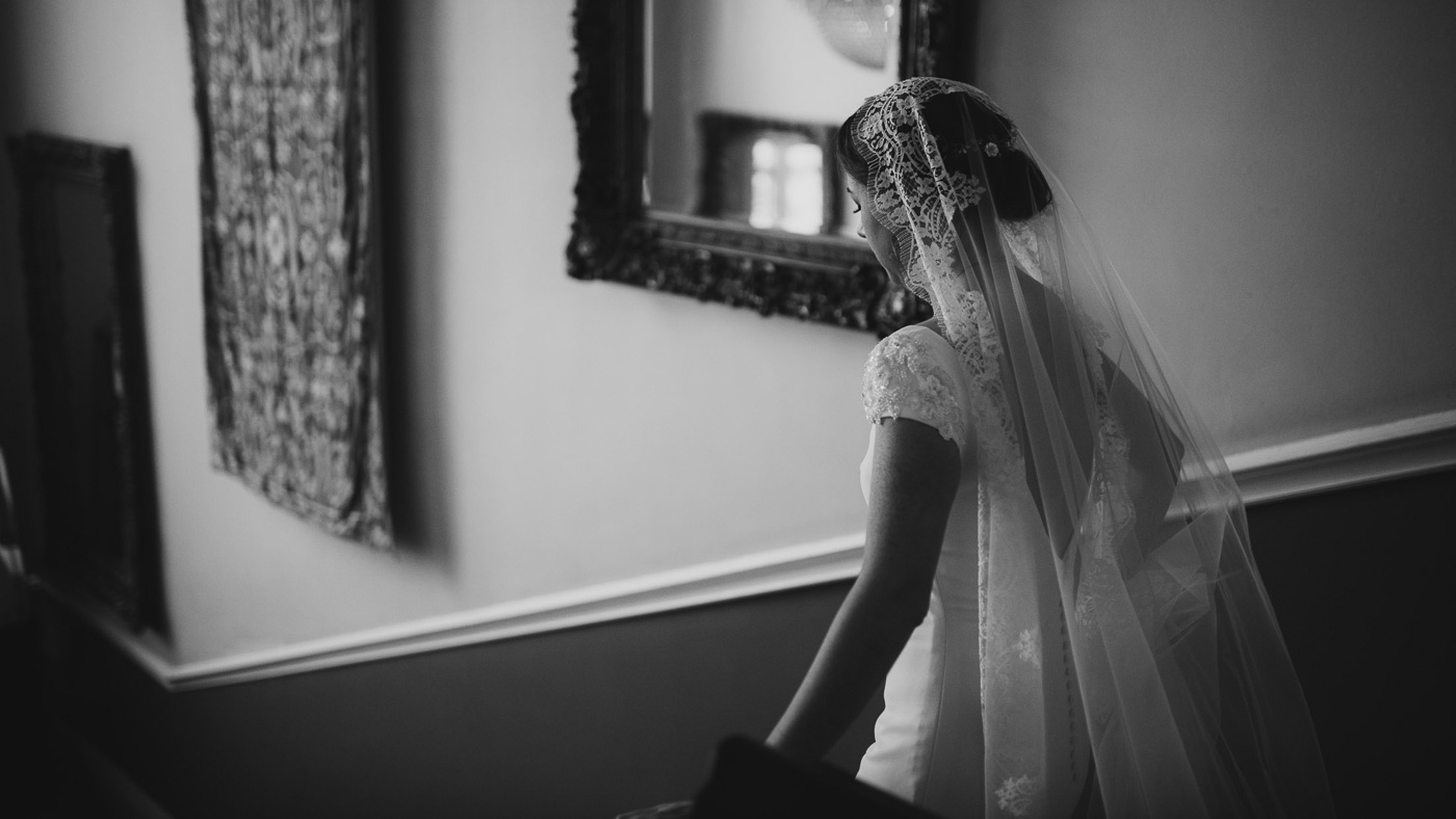 The Bride's veil took her family's breath away! Stunning scene as she walked down the stairs of Castle Durrow.