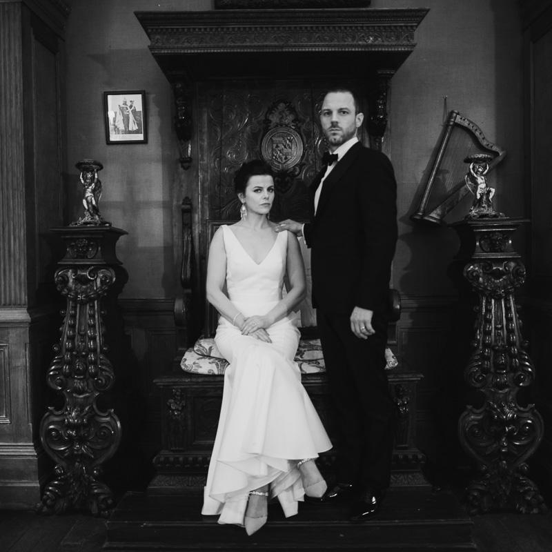 1900's style-wedding-portrait-castle-leslie