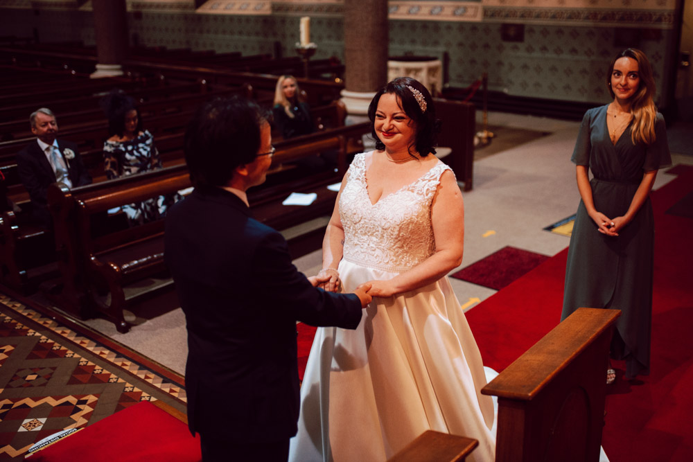 """P & E """"He captured every smile & joke in our ceremony & the depth of the indoor shots really is special."""""""