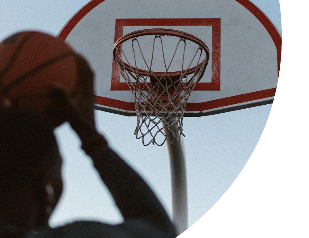 Shooting a basketball with perfect rotation