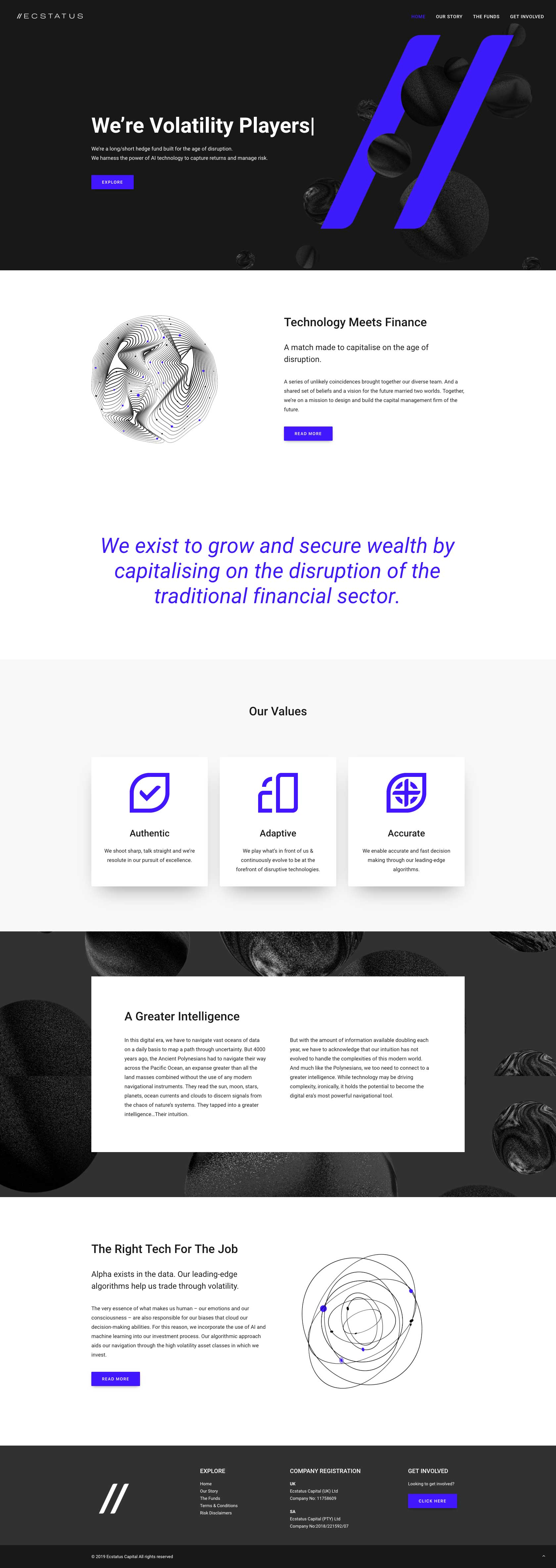 Ecstatus Website