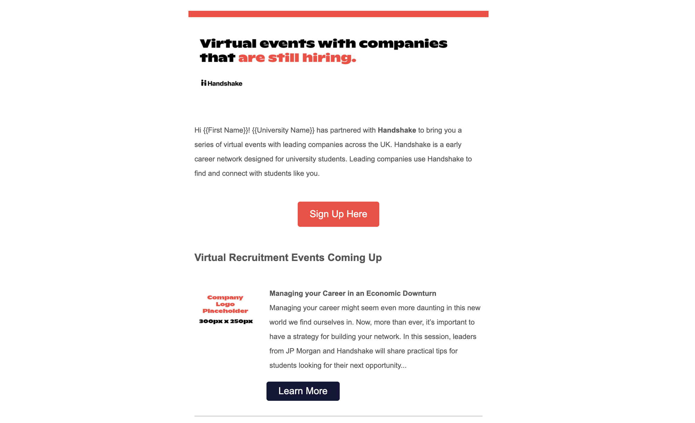 Virtual Event Email Template Digest