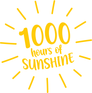 1000 hours of sunshine graphic