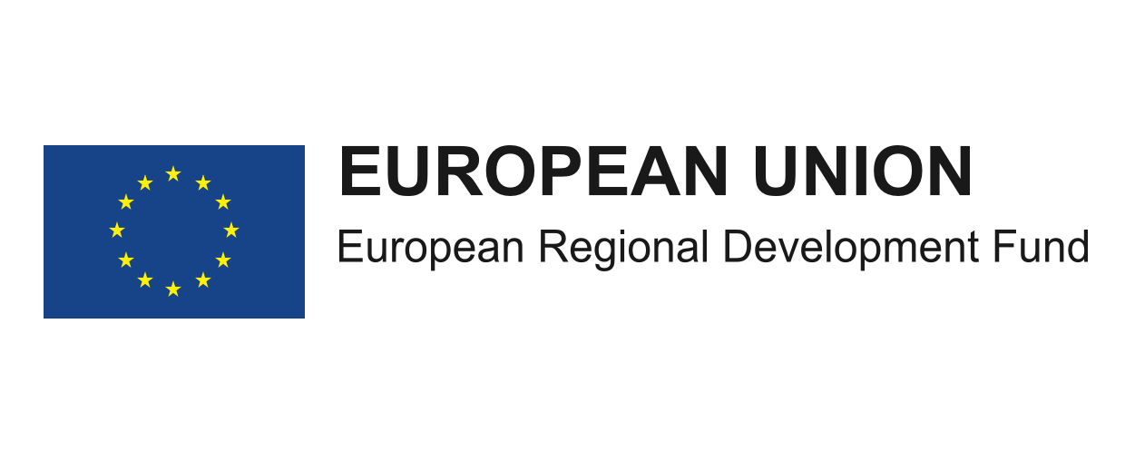 The logo for the European Regional Development Fund