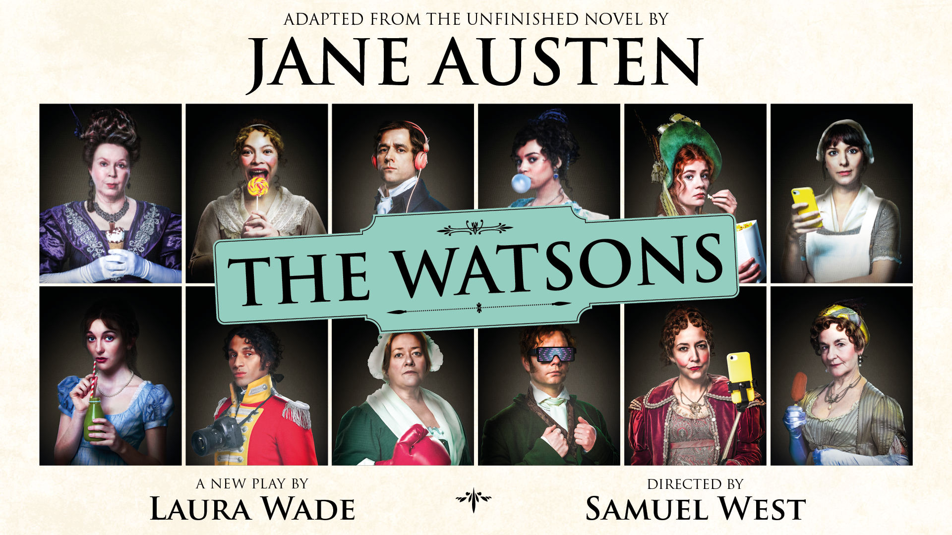 Title artwork for The Watsons, coming soon to the Harold Pinter