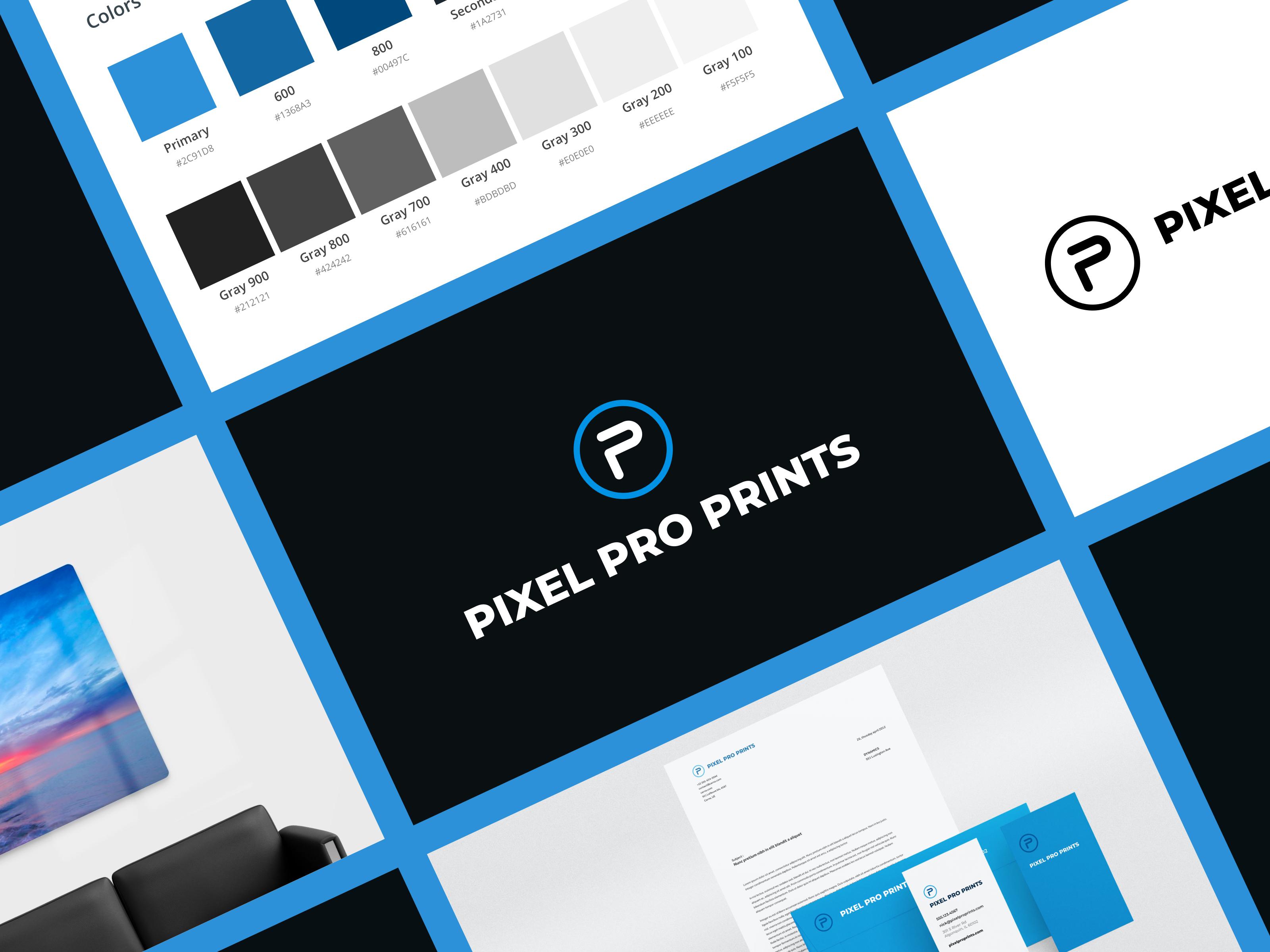 Pixel Pro Prints Branding