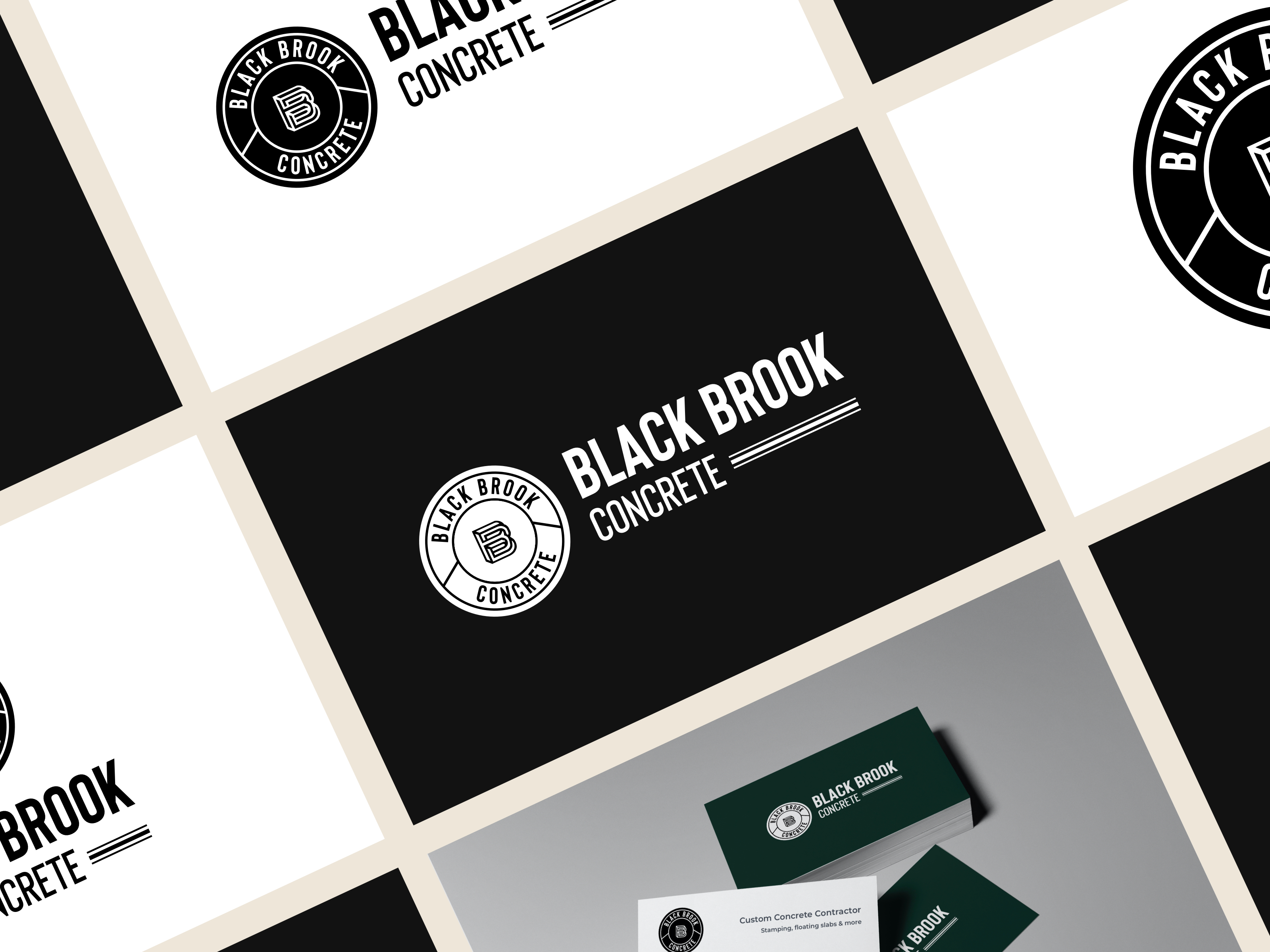 Black Brook Concrete Branding