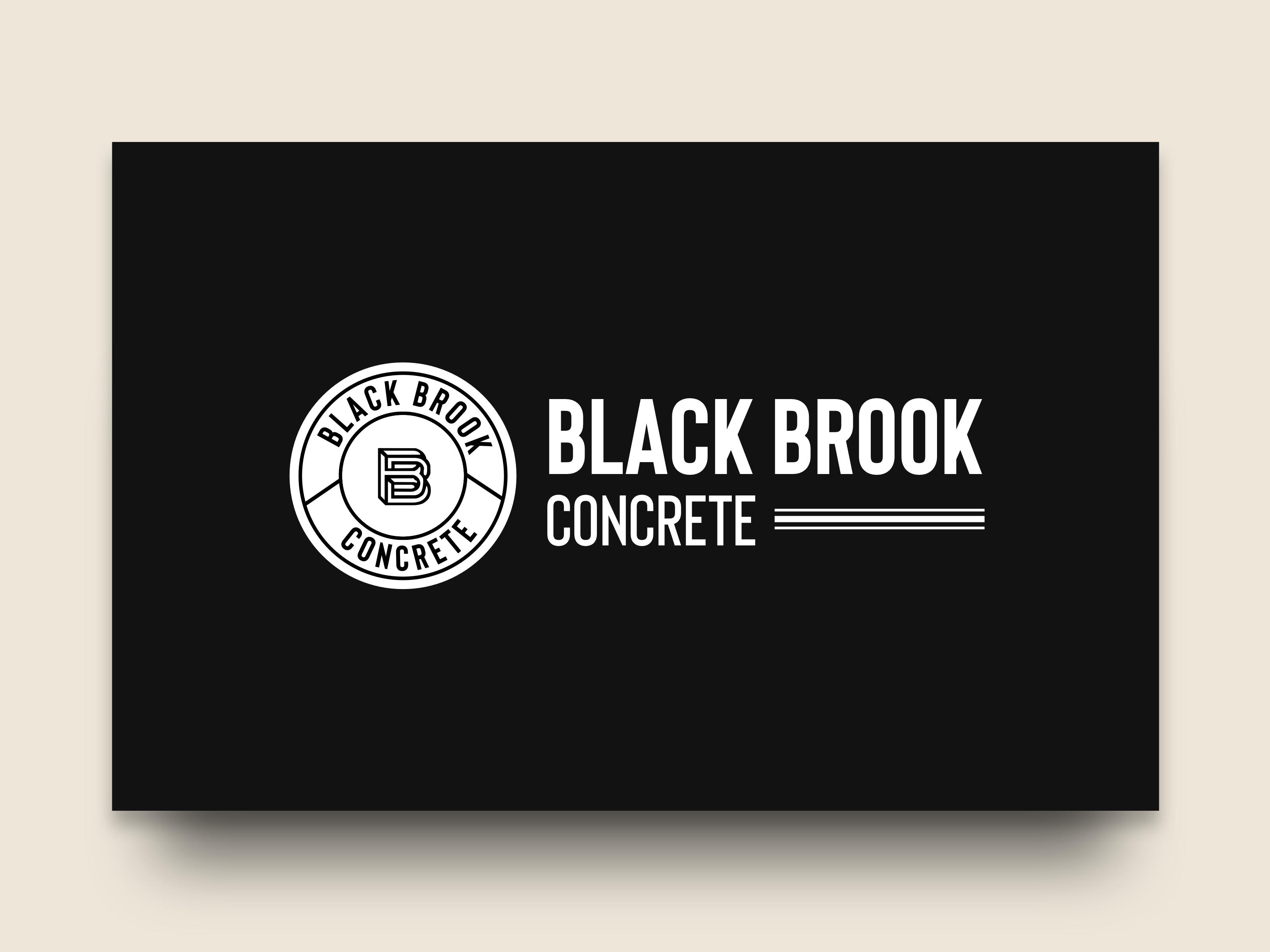 Black Brook Concrete Logo