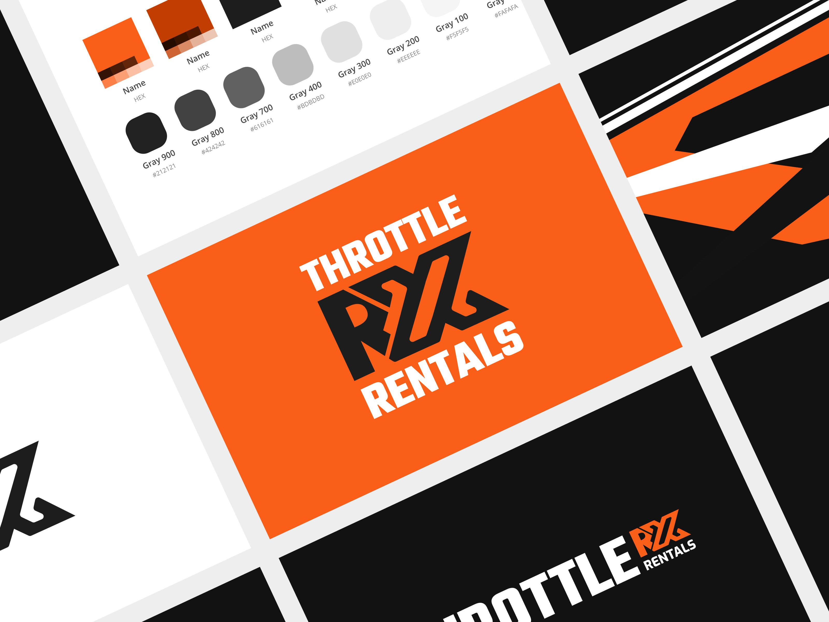 Throttle RX Rentals Branding