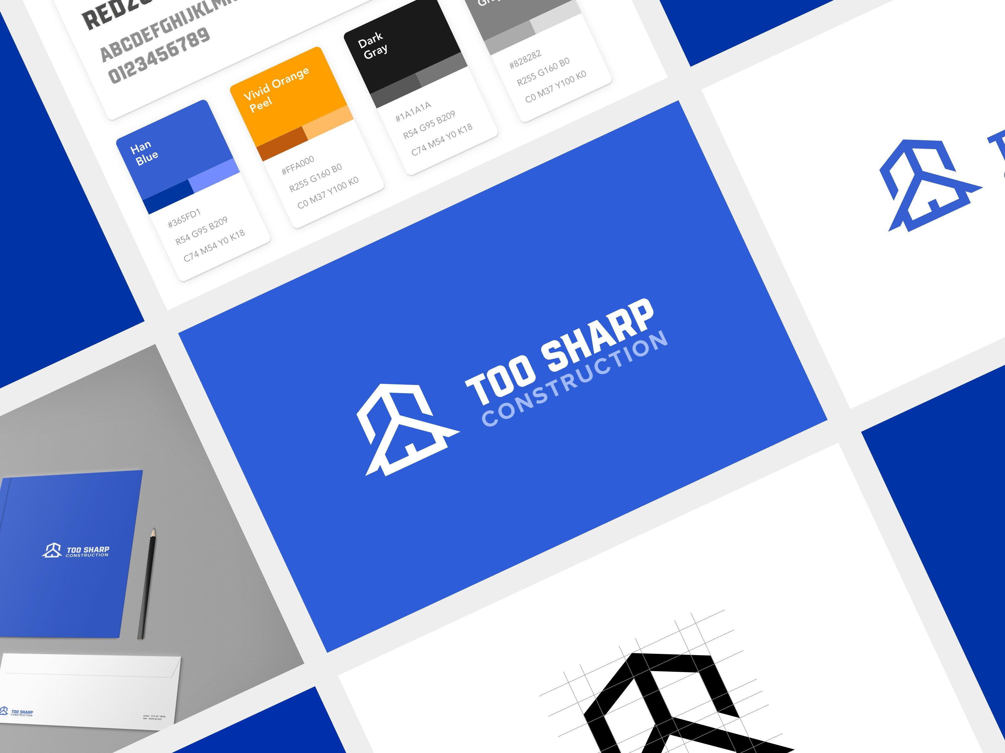Too Sharp Construction Branding