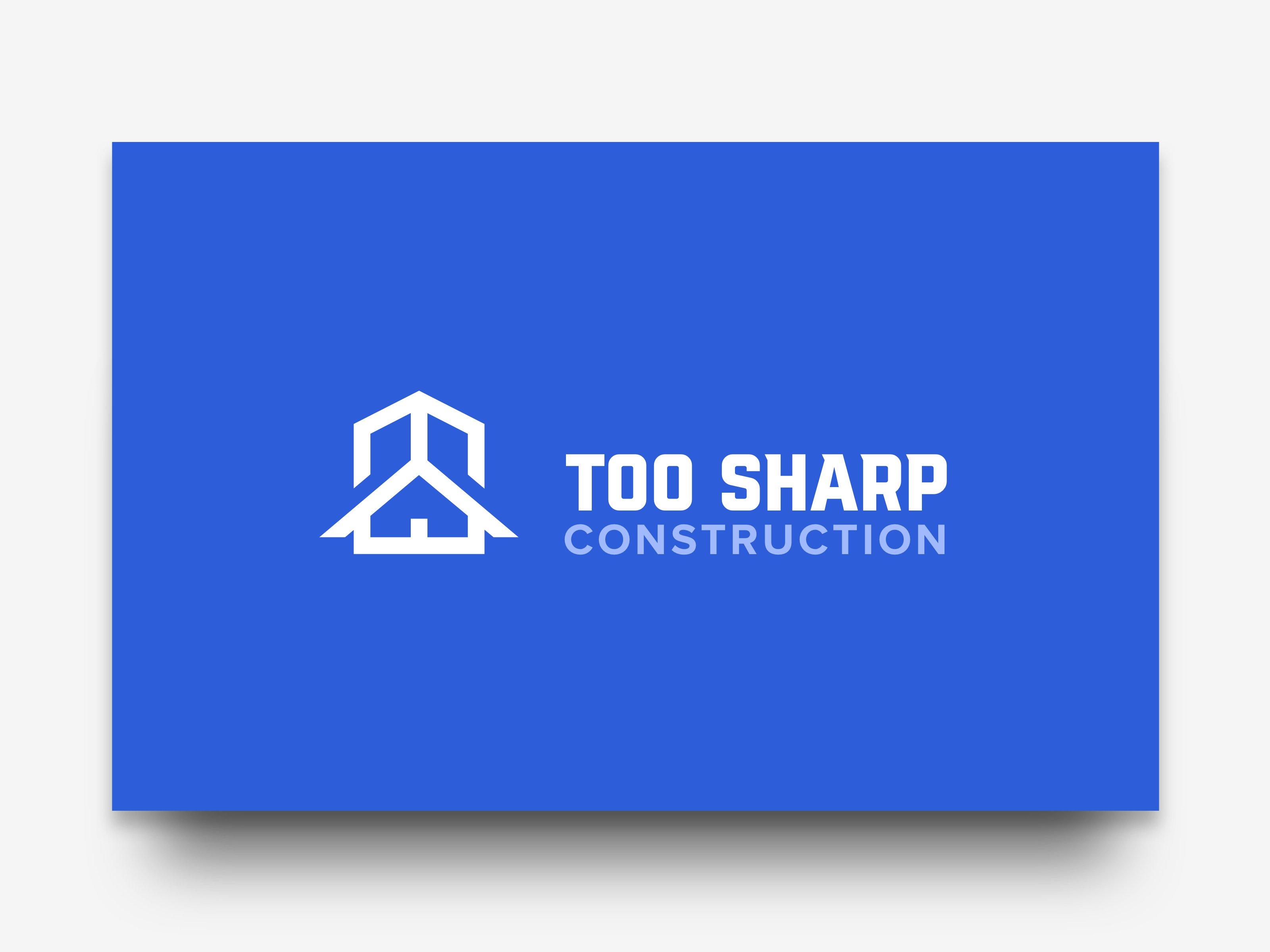 Too Sharp Construction Logo