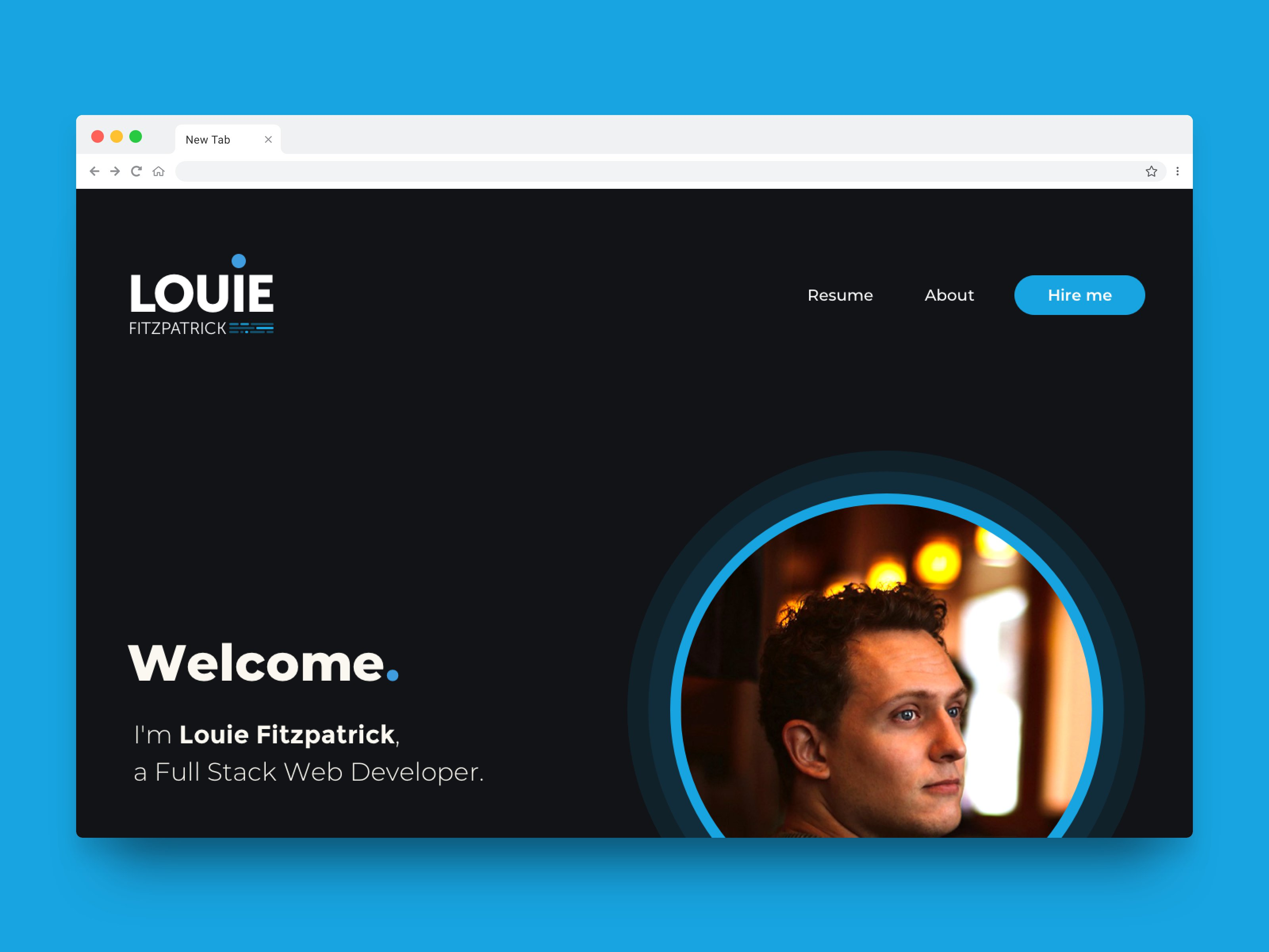 Screenshot of Louie Fitzpatrick Website