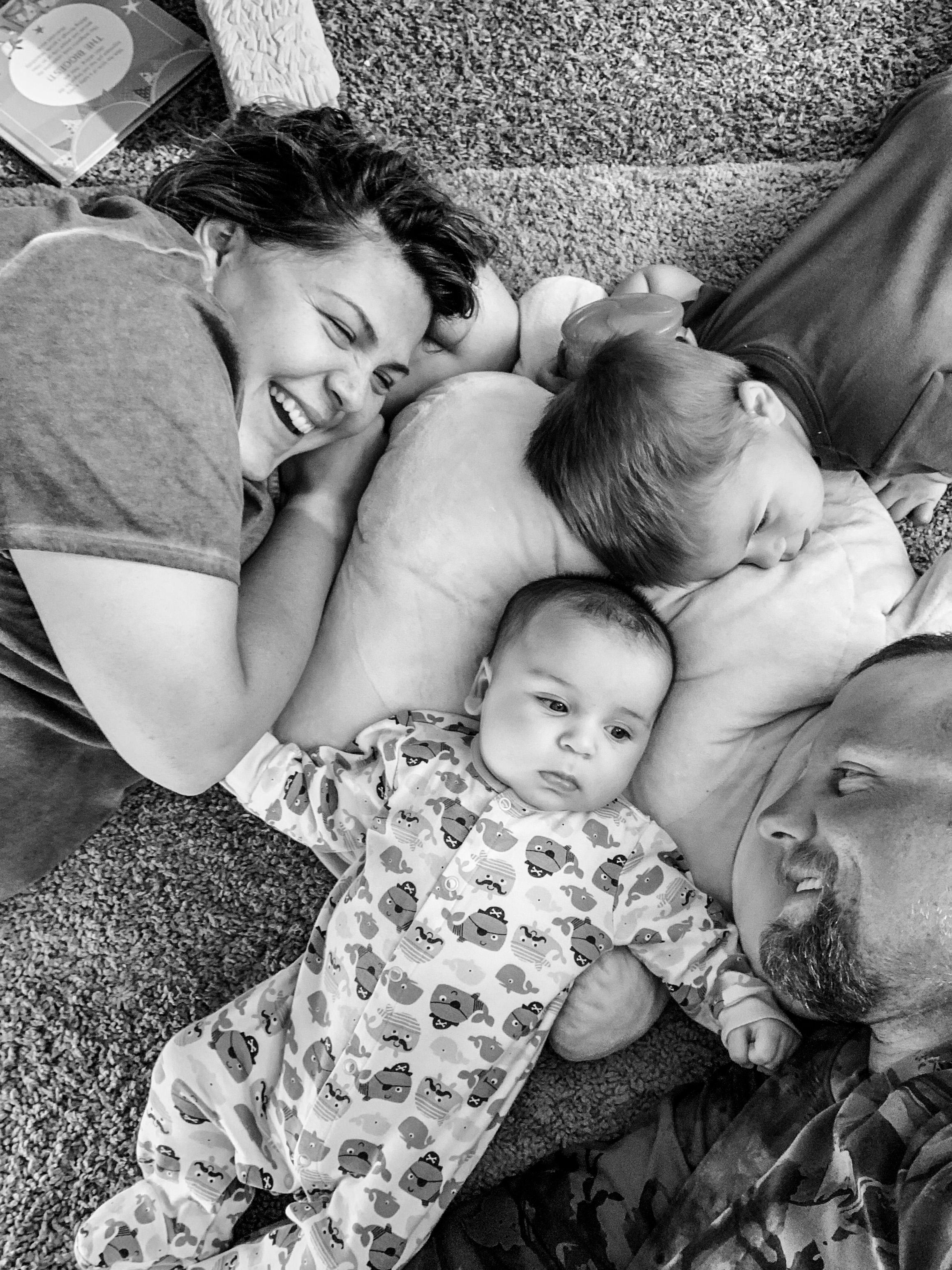 A photo of Matt's family