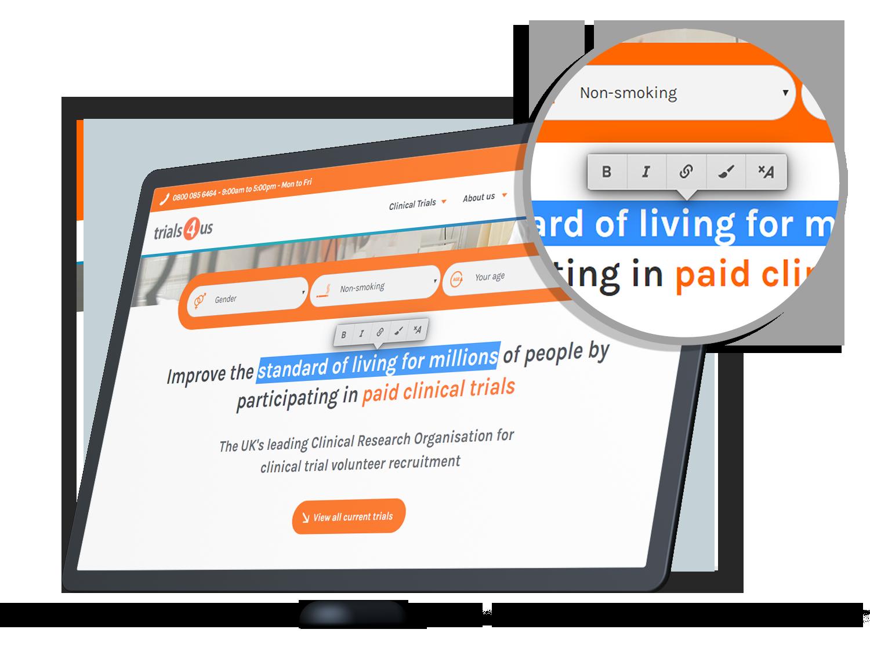 edit website image