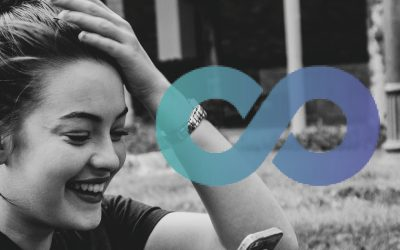 A young girl, smiling, with her hand on her head. A Chronically Simple logo is also on the image.
