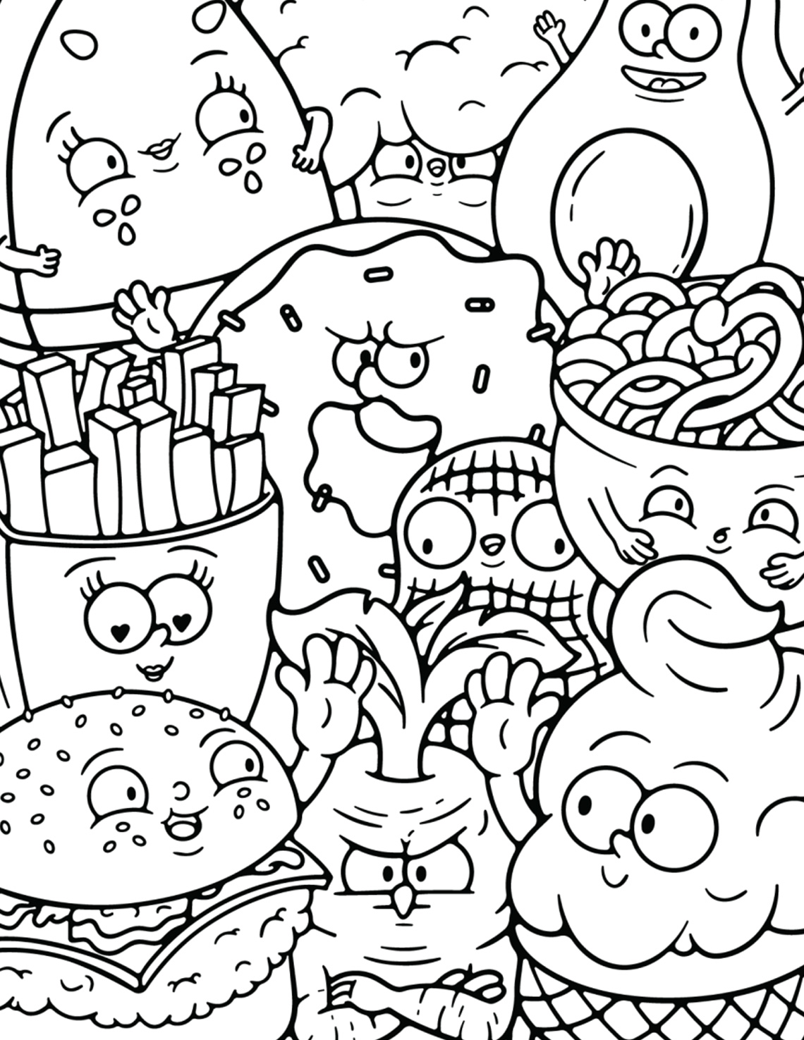 Snack Coloring Pages | 1475x1140
