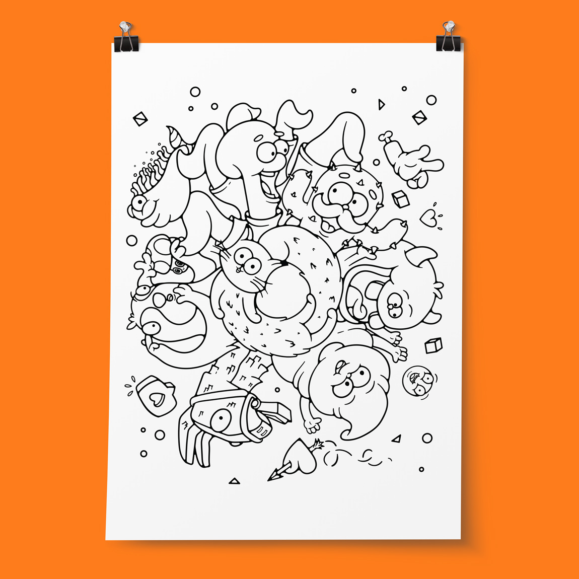 Buy a giant Colorable poster