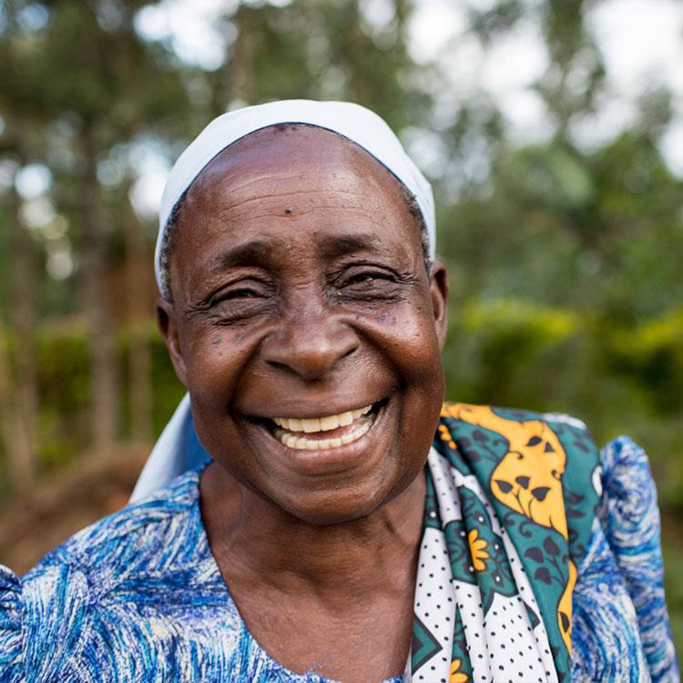 A woman smiling in Kenya