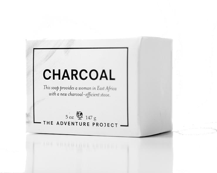White charcoal soap box.