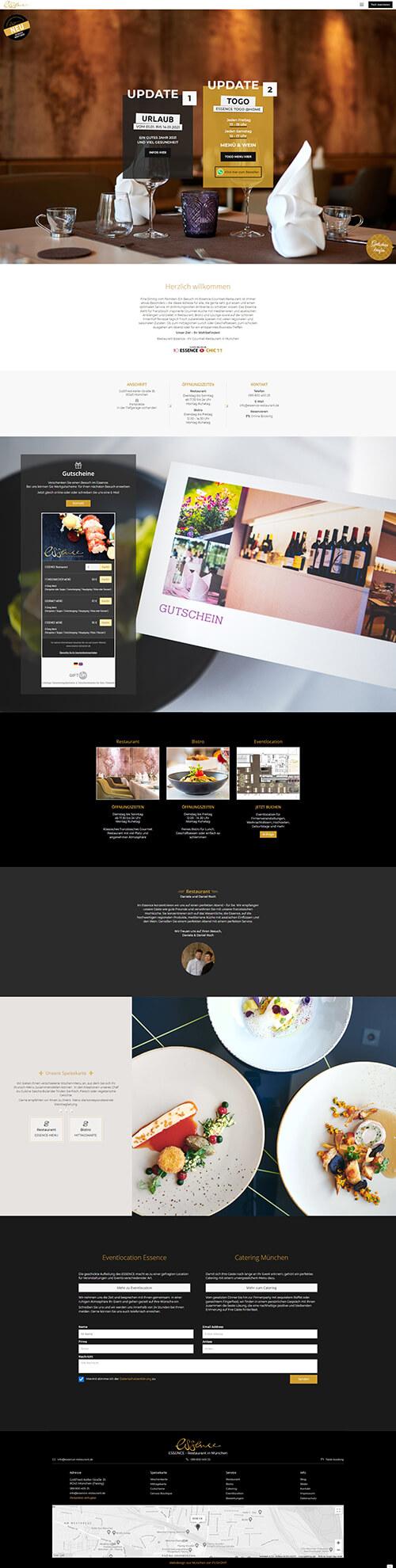 Fine Dining Restaurant Webseite