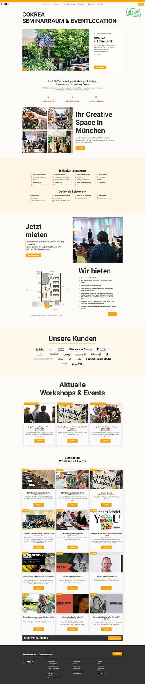 Eventlocation Webseite