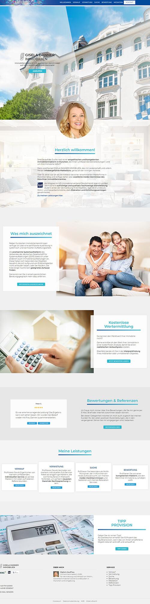 Immobilienmarkler Webseite