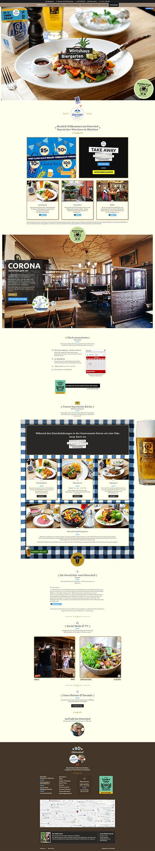 Wirtshaus Webseite