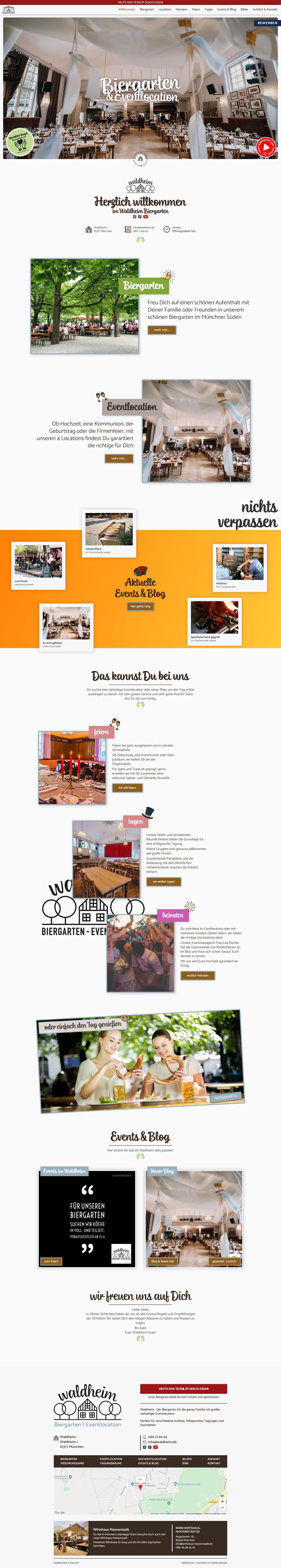 Biergarten Webseite