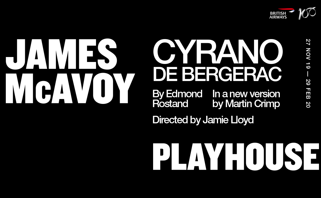 Title artwork for Cyrano de Bergerac starring James McAvoy and directed by Jamie Lloyd